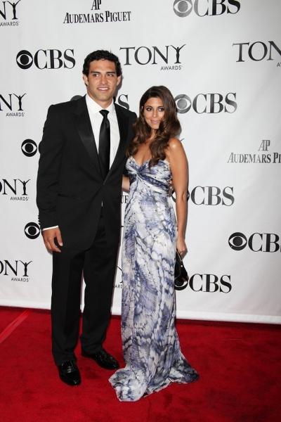NY Jets' Mark Sanchez and Jamie-Lynn Sigler at 2010 Tonys - Red Carpet!