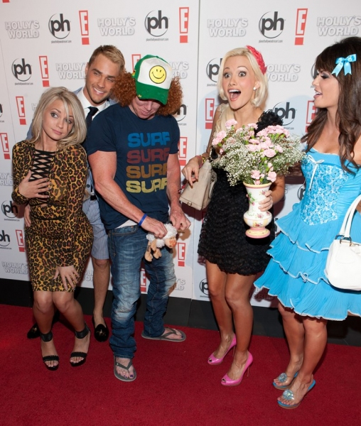 Angel Porrino, Josh Strickland, Carrot Top, Holly Madison and Laura Croft
