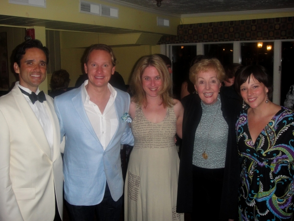 Bradford Kenney, Executive Artistic Director of the Ogunquit Playhouse, Carson Kressley, Lisa Lambert, Georgia Engel and Director, Casey Hushion