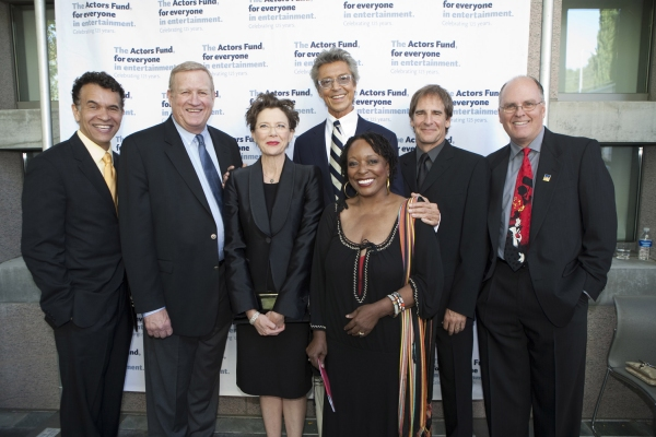Brian Stokes Mitchell, Annette Bening and Tommy Tune with SAG Board members Ken Howard, L Scott Caldwell, Scott Bakula and Jeff Austin