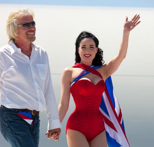 Sir Richard Branson and Dita Von Teese