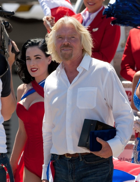 Dita Von Teese and Sir Richard Branson