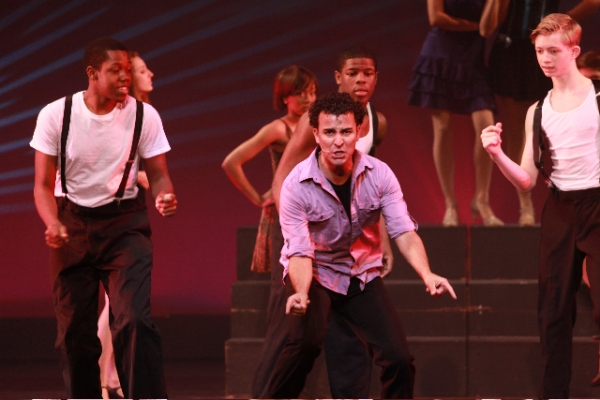 Carlos Encinias (Les Miserables) performs It's Too Darn Hot with BDF Students