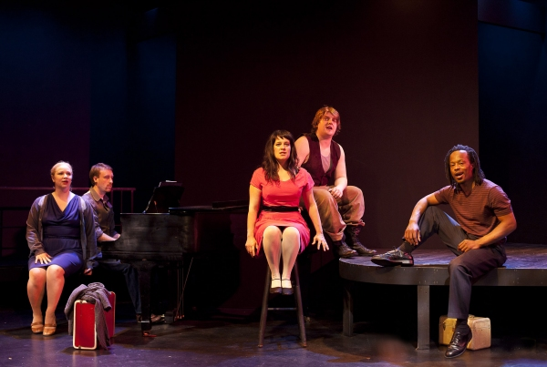 Elizabeth Klinger, musical director/accompanist Eric Nordin, Rebecca Teran, David Cole and Vin Shambry
