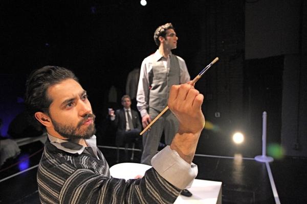 Leif Huckman (Basil) and Wil Petre (Dorian Gray)