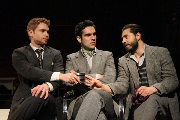 Vayu O'Donnell (Henry), Wil Petre (Dorian Gray) and Leif Huckman (Basil)