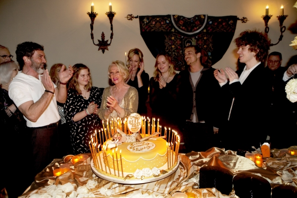 Family gathers for Private party including L-R Antonio Banderas, Stella Banderas, Tippi Hedren, Melanie Griffith, Dakota Johnson, Jesse Johnson and Alexander Bauer