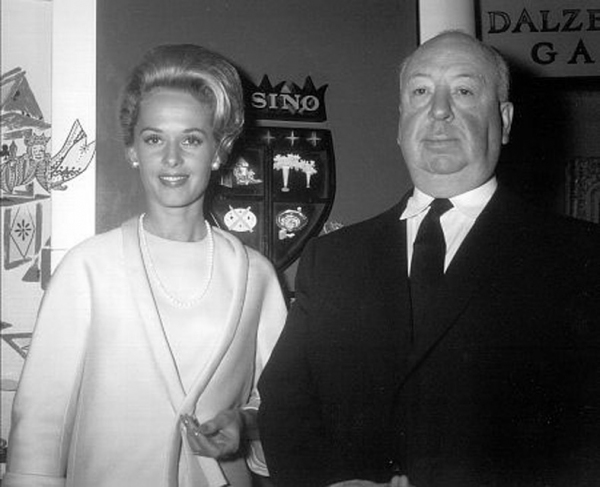Tippi Hedren with Alfred Hitchcock