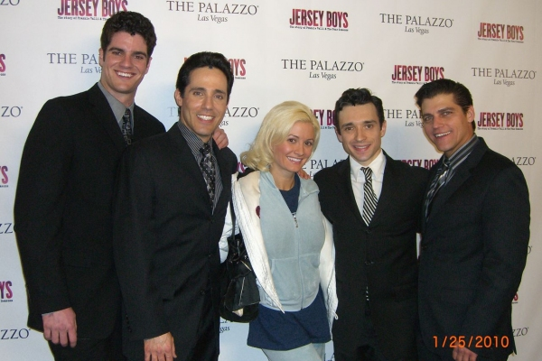 Peter Saide, Jeff Leibow, Holly Madison, Rick Faugno, Deven May  Photo