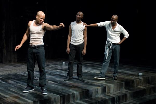 Glenn Davis, Phillip James Brannon and ensemble member K. Todd Freeman Photo