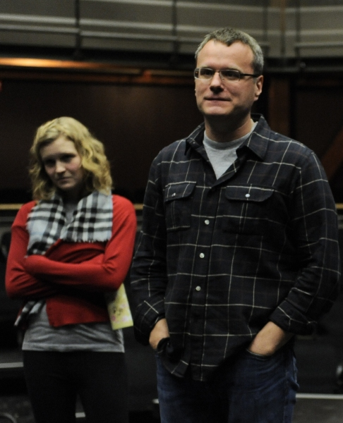 (l to r) Greta Honold (Annie) and Chris McGarry (Bob)