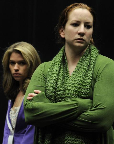 (l to r) Fiona Robert (Tasha) and Katy Sullivan (Sandra)