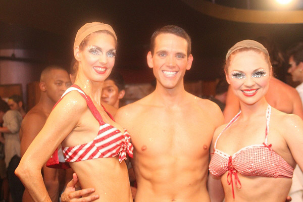Hillary Elliott, Scott Brateng and Kristen Beth Williams at BROADWAY BARES XX: STRIP-OPOLY Backstage