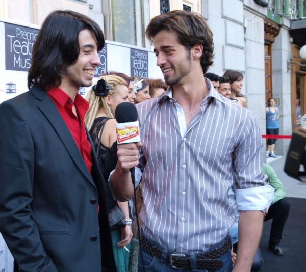 Xavi Melero y nuestro presentador Sergio