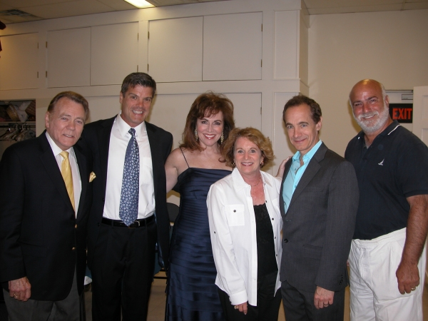 Don Pippin, Jason Graae, Debbie Gravitte and Nat Chandler with sponsors Dot & Ed Slade