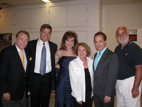 Don Pippin, Jason Graae, Debbie Gravitte and Nat Chandler with sponsors Dot & Ed Slade
