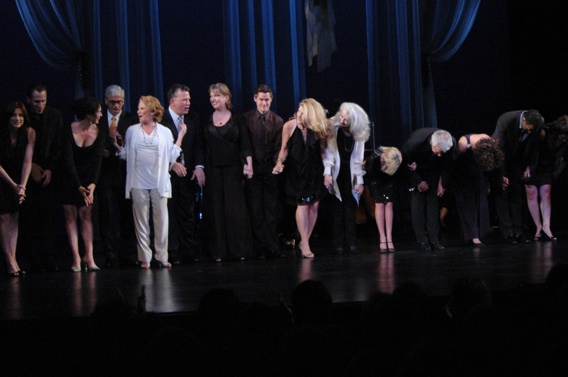 The Cast of One Enchanted Evening including Steve Bakunas, Linda Lavin, Billy Stritch, Lauren Ambrose, Adam Guettel, Victoria Clark, Mary Beth Piel, Kristin Chenoweth, James Naughton, Karen Ziemba and Norm Lewis at Chenoweth, O'Hara et al. in 'One Enchanted Evening' Benefit