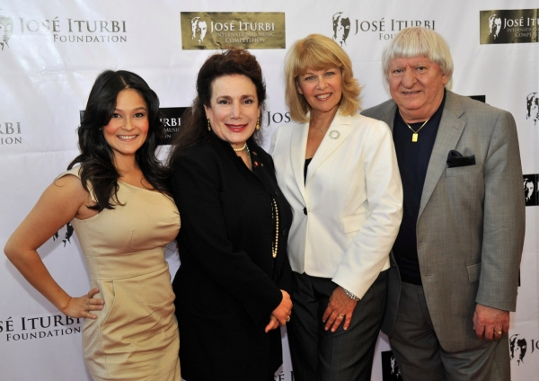 Romi Dames, Donelle Dadigan, Ilene Graff and Ben Lanzarone at Jose Iturbi Foundation Music Competition