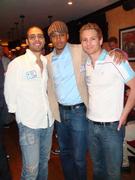 Jermaine Heredia along with cast members From TALES FROM THE TUNNEL, Brandon Jones an Photo