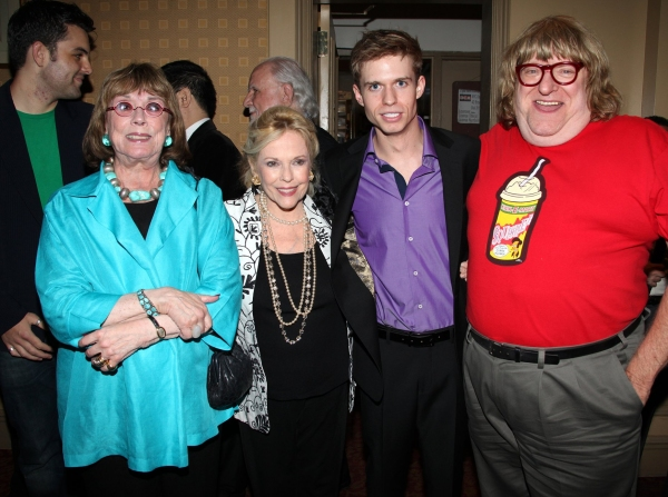 Phyllis Newman, Eileen Fulton, Hunter Ryan Herdlicka and Bruce Vilanch
