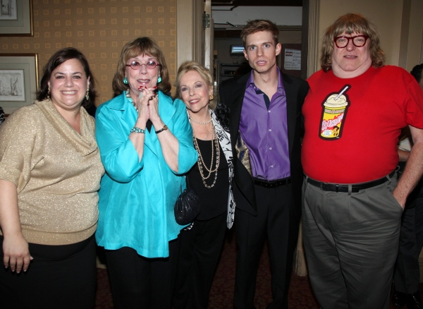 Diana Basmajian, Phyllis Newman, Eileen Fulton, Hunter Ryan Herdlicka and Bruce Vilanch