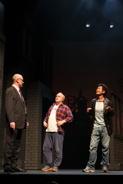 Daniel Jenkins, Andy Hockley, Adrian Pang at THE FULL MONTY Singapore