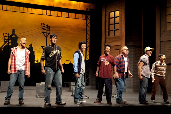 Lim Yu-Beng, Rishi, Adrian Pang, Richard Chia, Andy Hockley, Andrew Lua, Hossan Leong at THE FULL MONTY Singapore