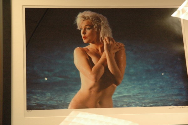 A Marilyn Monroe portrait for the Art Project Los Angeles auction. Photo