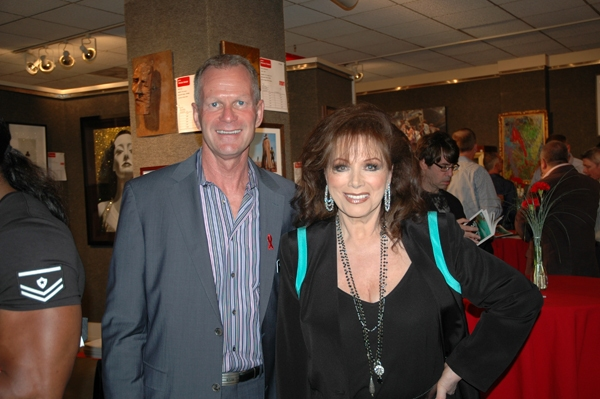 APLA Executive Director Craig E. Thompson with author Jackie Collins