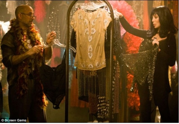 Stanley Tucci and Cher at First Promo Shots of 'Burlesque' Released!