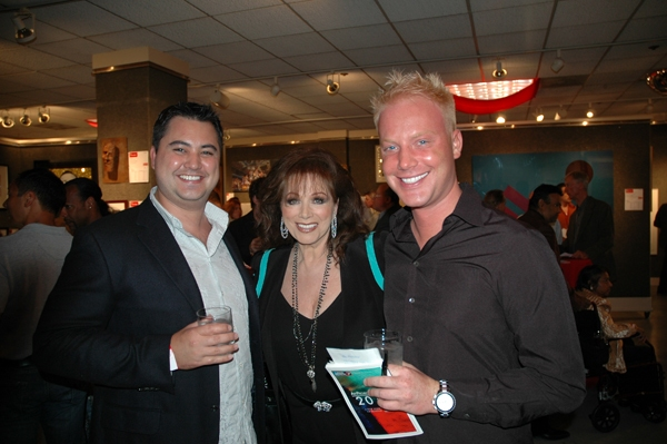 Jackie Collins with VIP Guests