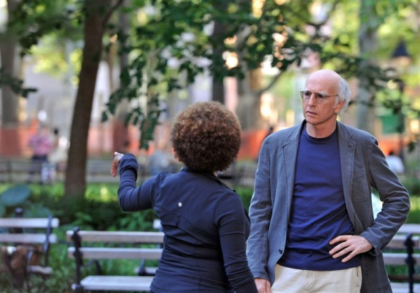 Wanda Sykes and Larry David at Photos: Cheyenne Jackson Begins Shooting for 'Curb Your Enthusiasm'
