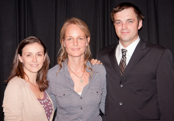 Jennifer Grace, Helen Hunt, and James McMenamin