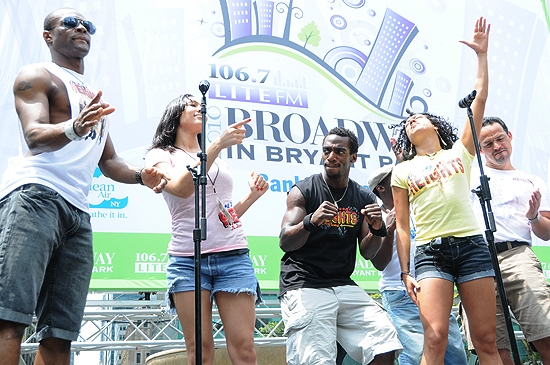 Photo Coverage: PROMISES, HEIGHTS et al. Play Broadway in Bryant Park, 7/8