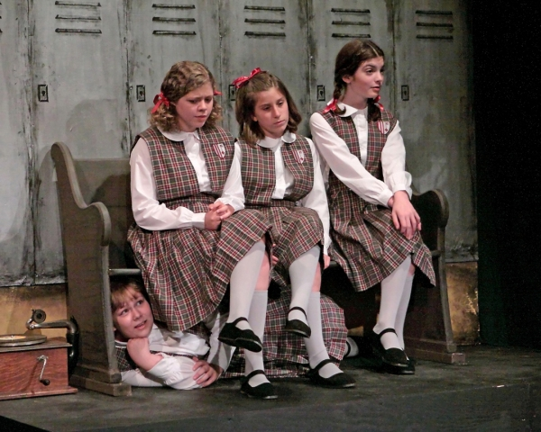Abby Hambidge, Becca Myhill as Jenny, Sasha Krivosky as Monica, and Abigail Heydenburg