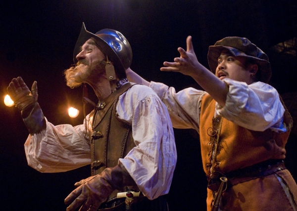 Jeff Berryman and Don Darryl Rivera at Taproot Theatre Opens MAN OF LA MANCHA