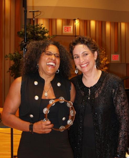 Percussionist, Ms. Vicki Randle with Dr. Iris Levine