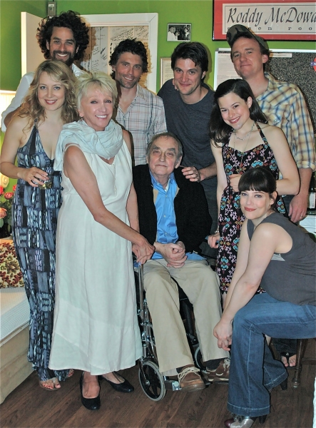 Cast of FIFTH OF JULY with playwright Lanford Wilson (center)
