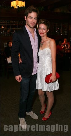 Chris Pine (L) and Zoe Perry