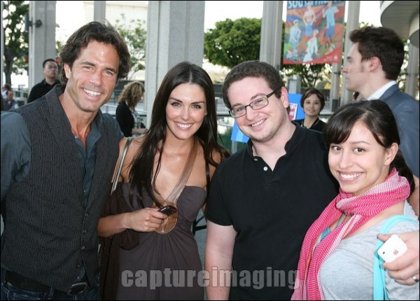 Shawn Christian, Taylor Cole, actor Adam Hendershott and Sylvia Hendershott