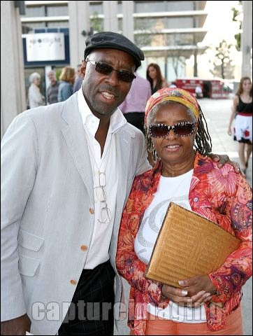 Courtney B. Vance (L) and mother Leslie Vance