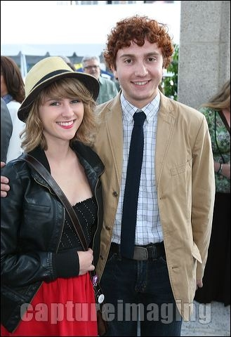 Stephanie Csengeri (L) and actor Daryl Sabara