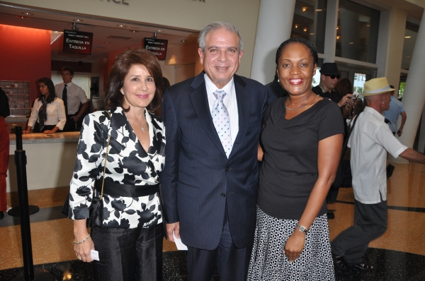 Mayor Regalado and guest with Valerie Riles