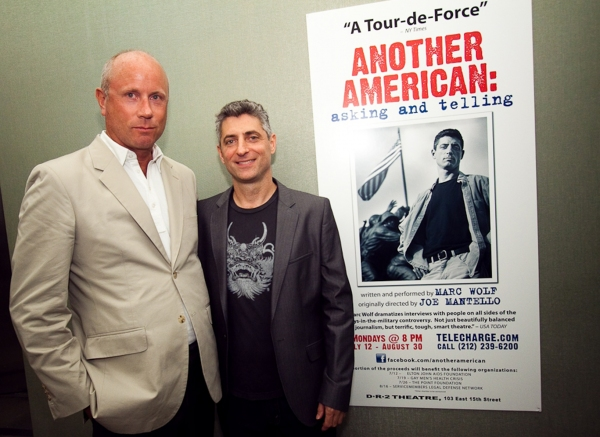 Scott P. Campbell (Executive Director of the Elton John AIDS Foundation and Marc Wolf) at ANOTHER AMERICAN: ASKING AND TELLING at the DR2 Theatre