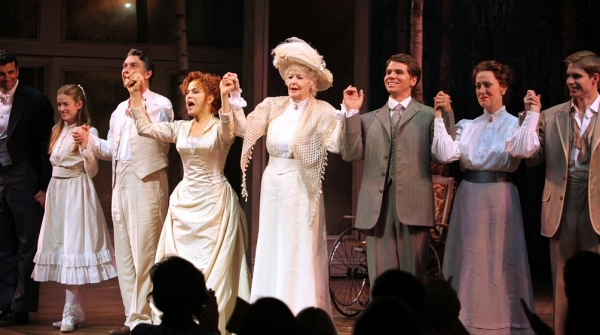 Bradley Dean, Katherine McNamara, Alexander Hanson, Bernadette Peters, Elaine Stritch, Kevin David Thomas, Karen Murphy, Hunter Ryan Herdlicka  at Bernadette Peters and Elaine Stritch Open in A LITTLE NIGHT MUSIC