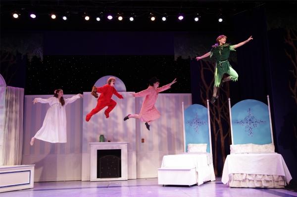 Wendy (Kaitlin Ferrara), Michael ( Alex Pasieka), John (Connor Ives) and Peter Pan (C Photo