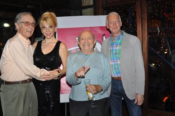 Bernie Kopell, Terese Ganzel, Lou Cutell and Don Crichton