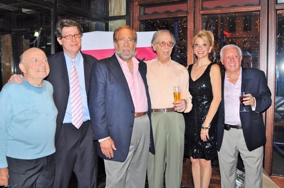 Lou Cutell, Robert Nederlander, Jr., Stanley Browne, Bernie Kopell, Teresa Ganzel and John Finocchio