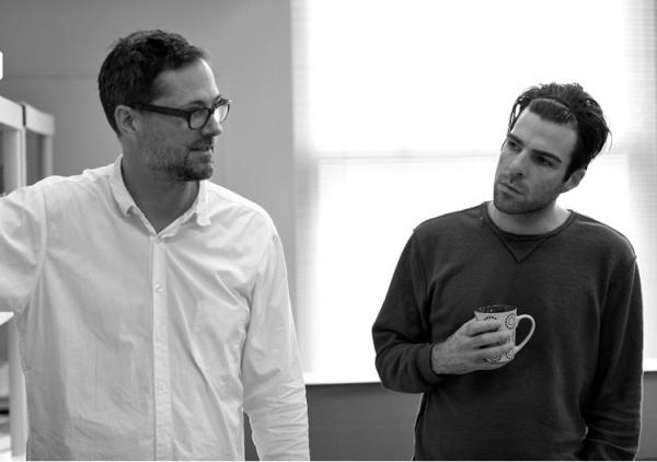 Set Designer Mark Wendland and Zachary Quinto Photo
