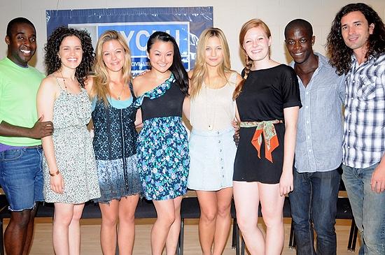 Mykal Kilgore, Briana Carlson-Goodman, Kate Rockwell, Cailan Rose, Vanessa Ray, Cathe Photo